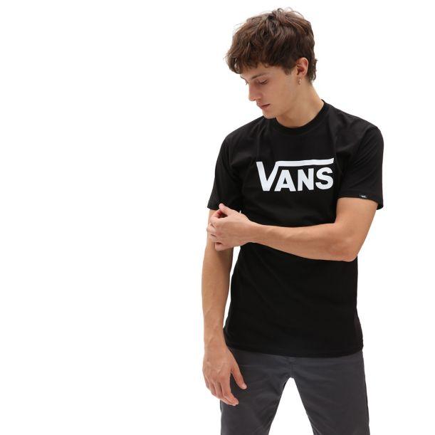 VANS CLASSIC T-SHIRT BLACK WHITE