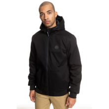 DC ELLIS WATER RESISTANT HOODED JACKET BLACK