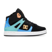 DC KIDS PURE HIGH TOP WNT BOOTS BLACK MULTI WHITE