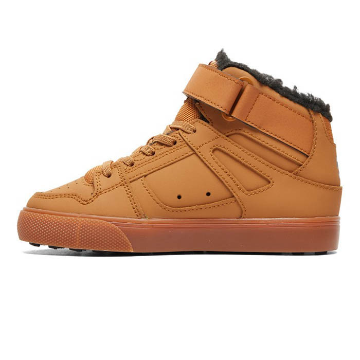 DC PURE HIGH TOP WNT ELASTIC LACED BOOTS WHEAT