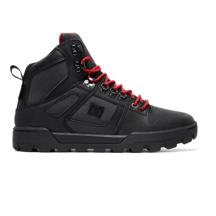 DC PURE HIGH TOP WR BOOT BLACK GREY RED