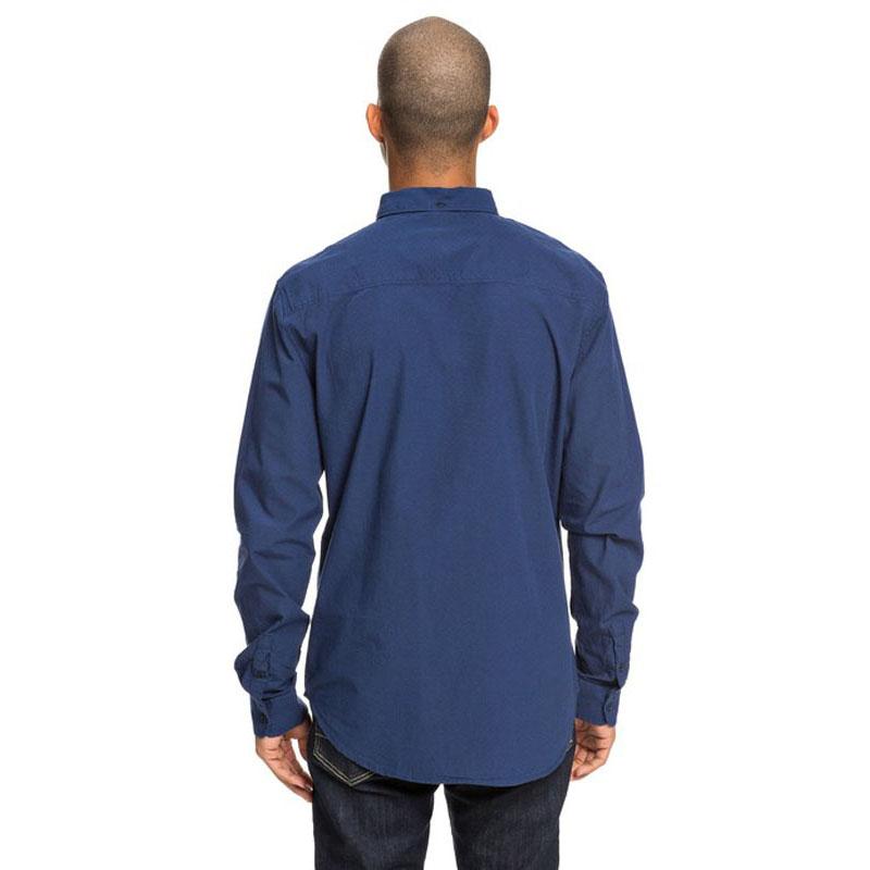 DC SMALL MARK LONG SLEEVE SHIRT NAUTICAL BLUE