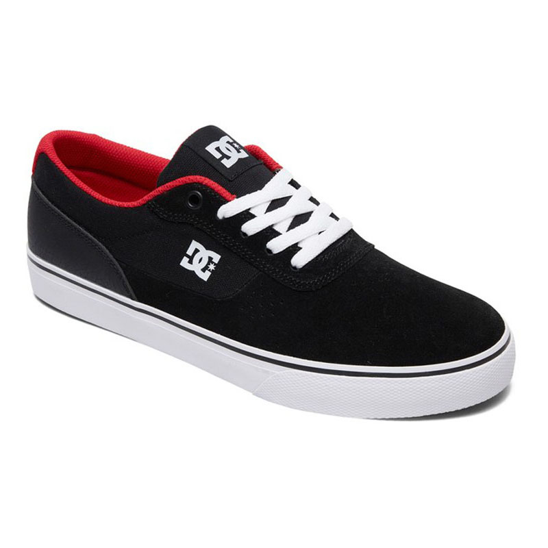 DC SWITCH SHOES BLACK ATHLETIC RED