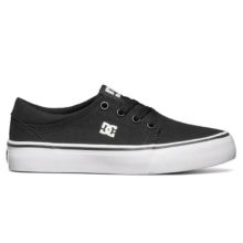 DC TRASE TX YOUTH SHOES BLACK WHITE