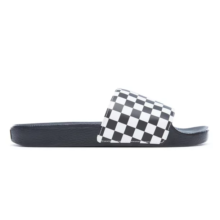 VANS SLIDE ON SANDALS CHECKERBOARD WHITE