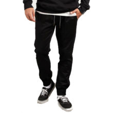 VOLCOM FRICKIN MODERN TAPERED JOGGER PANTS BLACK