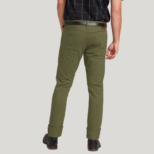 VOLCOM VORTA 5 POCKET SLUB SLIM FIT JEANS VINEYARD GREEN