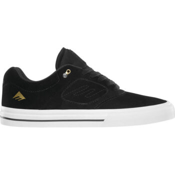 EMERICA REYNOLDS 3 G6 VULC SHOES BLACK WHITE GOLD