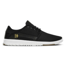 ETNIES SCOUT SHOES BLACK WHITE GUM