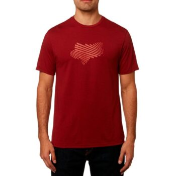 FOX CLASH TECH T-SHIRT HEATHER RED