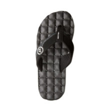VOLCOM RECLINER SANDALS BLACK WHITE