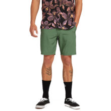 VOLCOM SURF N TURF FADED HYBRID SHORTS DUSTY GREEN