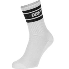 OBEY COOPER II SOCKS WHITE BLACK