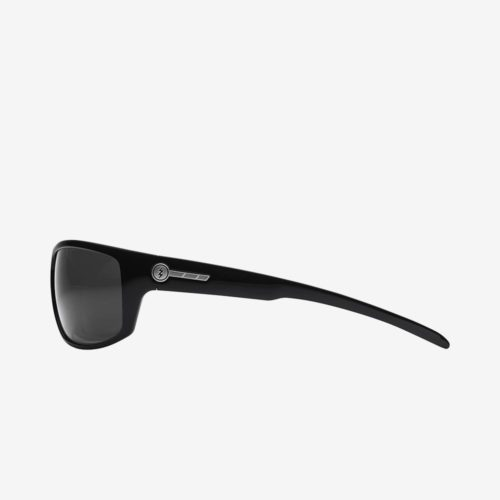 ELECTRIC TECH ONE SUNGLASSES GLOSS BLACK GREY POLARIZED