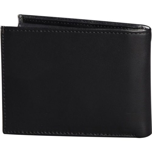 FOX BIFOLD LEATHER WALLET BLACK