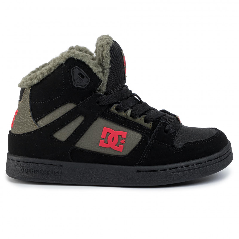 DC KIDS PURE HIGH TOP WNT BOOTS BLACK OLIVE NIGHT