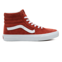 VANS PIG SUEDE SK8-HI SHOES BURNT BRICK TRUE WHITE