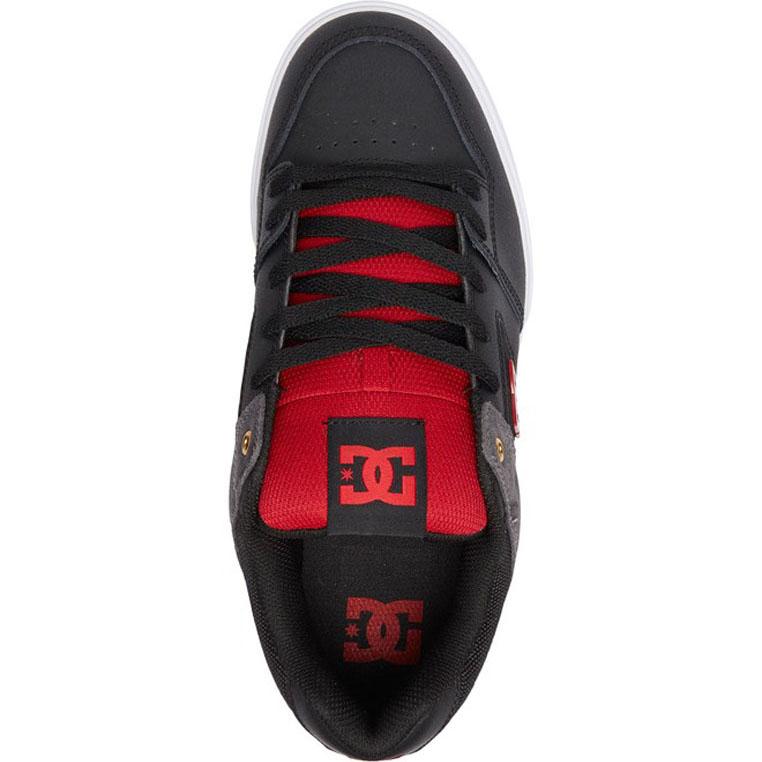 DC PURE SE SHOES BLACK RED
