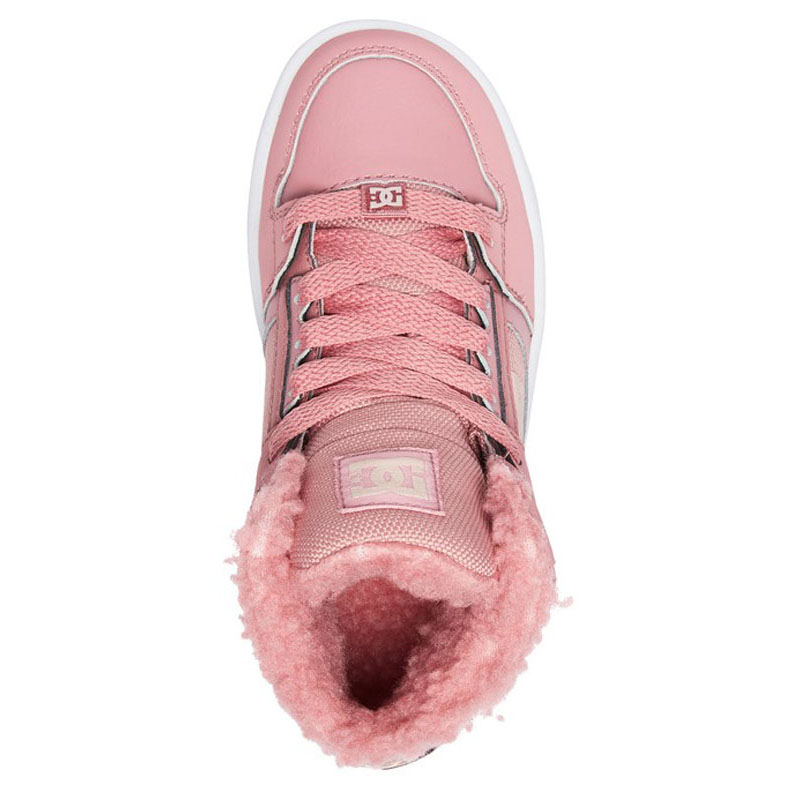 DC KIDS PURE HIGH TOP WNT BOOTS ROSE