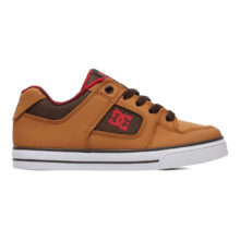 DC PURE SE YOUTH SHOES WHEAT