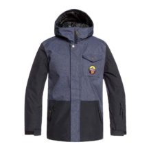 QUIKSILVER RIDGE YOUTH SNOW JACKET DENIM BLUE