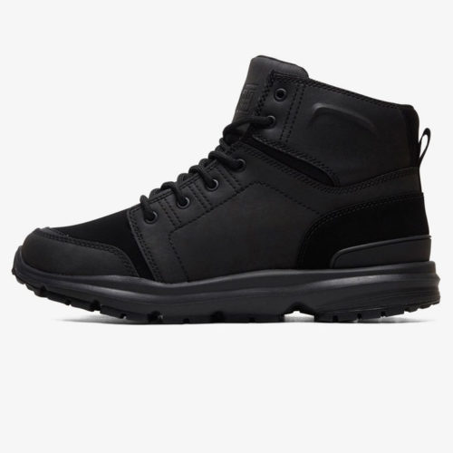DC TORSTEIN LEATHER WINTER BOOTS BLACK BLACK BLACK