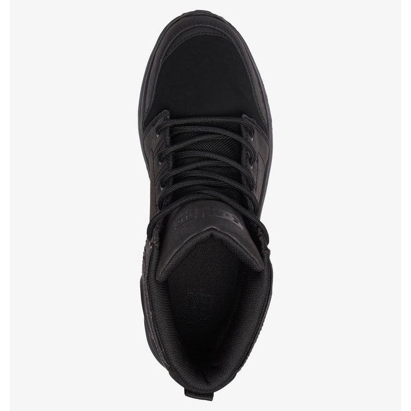 DC TORSTEIN LEATHER WINTER BOOTS BLACK BLACK BLACK