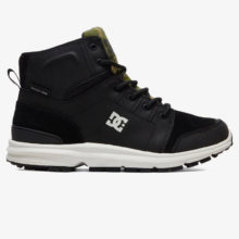 DC TORSTEIN LEATHER WINTER BOOTS CAMO BLACK