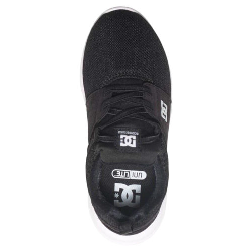 DC HEATHROW YOUTH SHOES BLACK WHITE