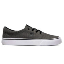 DC TRASE TX SE SHOES BLACK HERRINGBONE