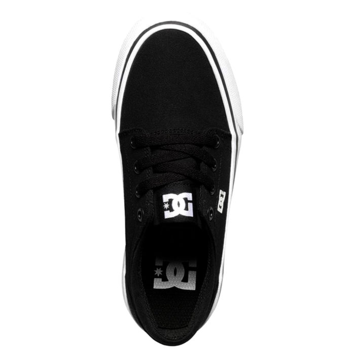 DC TRASE YOUTH SHOES BLACK WHITE
