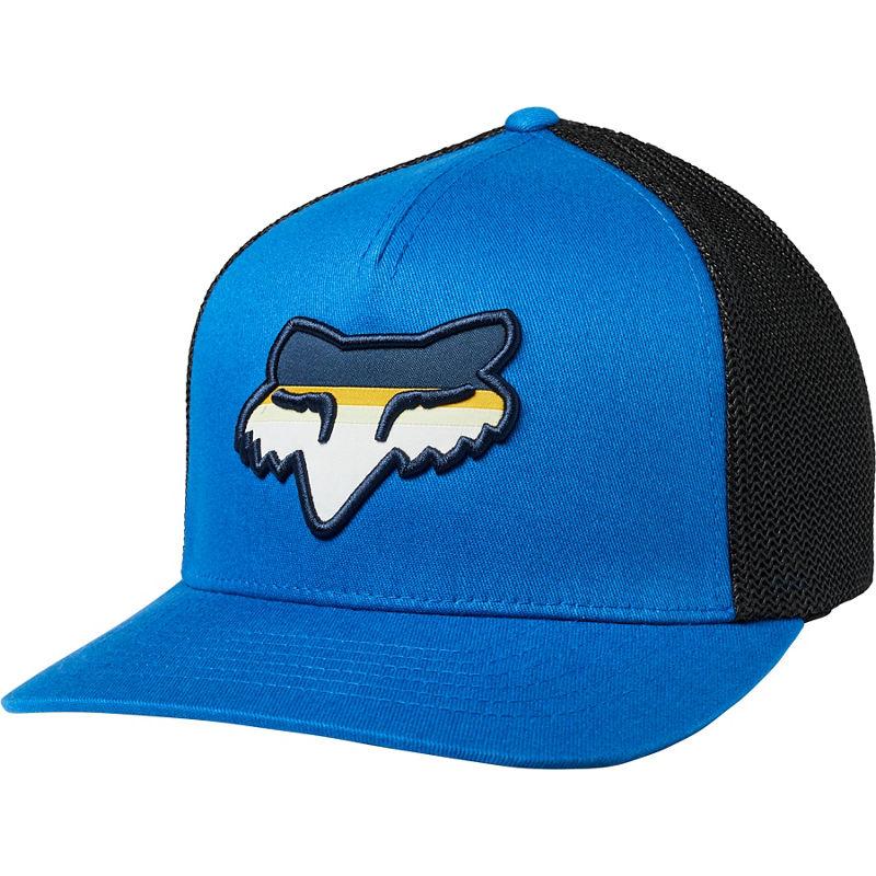 FOX HEAD STRIKE FLEXFIT HAT ROYAL BLUE