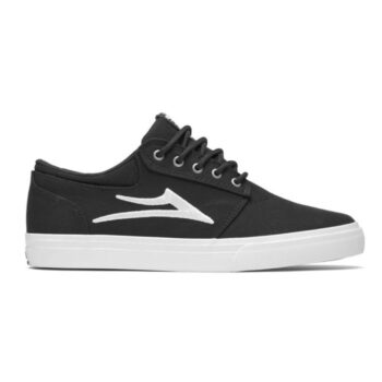 LAKAI GRIFFIN SHOES BLACK CANVAS