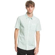 QUIKSILVER DOTS FLOWER SHIRT BEACH GLASS DOTS FLOWER