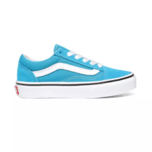 VANS KIDS OLD SKOOL SHOES CARIBBEAN SEA TRUE WHITE