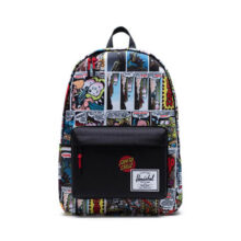 HERSCHEL SANTA CRUZ CLASSIC XL BACKPACK PORKCHOP HILL BLACK
