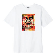 OBEY 3 FACE COLLAGE T-SHIRT WHITE