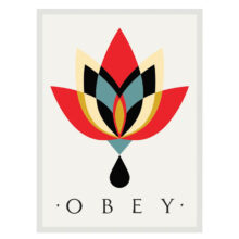 OBEY ESSENTIALS EMBROIDERED PATCHES CREAM MULTI