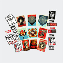OBEY STICKER PACK 5 ASSORTED