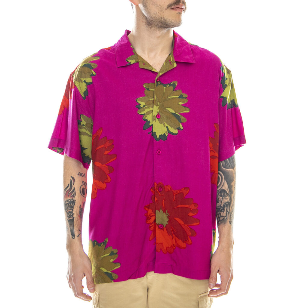 OBEY LOU SHIRT CASSIS MULTI