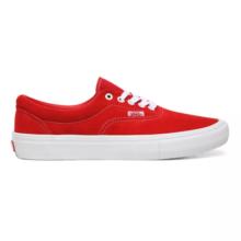 VANS ERA PRO SHOES SUEDE RED WHITE