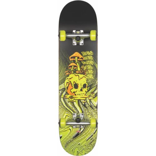GLOBE G1 NATURE WALK COMPLETE SKATEBOARD BLACK TOXIC YELLOW 8.125