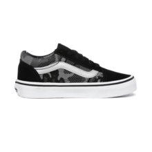 VANS KIDS OLD SKOOL SHOES PATERN CAMO BLACK TRUE WHITE