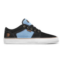 ETNIES BARGE LS SHOES BLACK BLUE BLACK