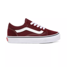 VANS KIDS OLD SKOOL SHOES PORT ROYALE TRUE WHITE