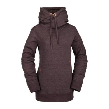 VOLCOM TOWER PULLOVER FLEECE BLACK RED
