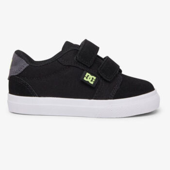 DC ANVIL V TODDLERS SHOES BLACK GREY YELLOW