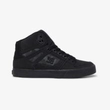 DC PURE HIGH TOP SHOES BLACK CAMO