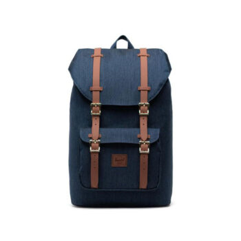 HERSCHEL LITTLE AMERICA MID VOLUME INDIGO DENIM CROSSHATCH