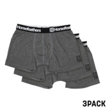 HORSEFEATHERS DYNASTY 3PACK BOXER HEATHER ANTHRACITE